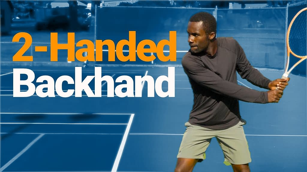 two handed backhand