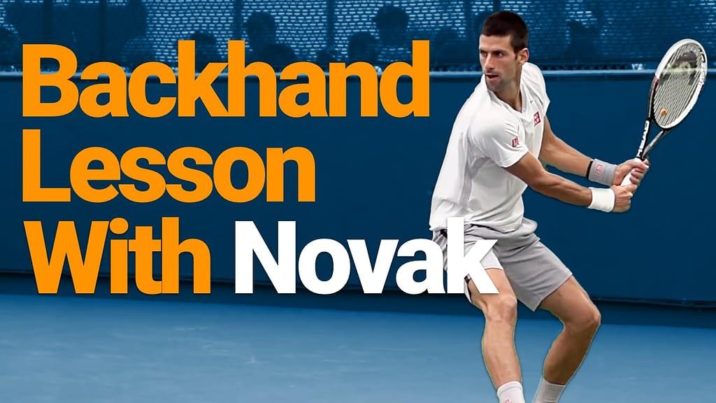 Novak Hitting a backhand